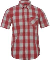 Lee Cooper Short Sleeve Check Shirt Junior, red/white