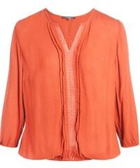 Blouse unie empiècement macramé Orange Coton - Femme Taille 1 - Cache Cache