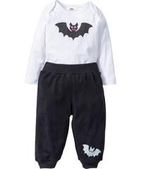 bpc bonprix collection Body bébé à manches longues + pantalon (Ens. 2 pces.) coton bio blanc enfant - bonprix
