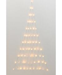 bpc living Décoration murale ou de porte filet lumineux à LED sapin blanc maison - bonprix