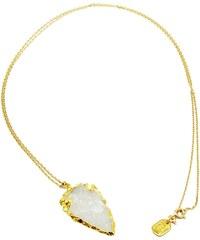 Secrets Des Anges Collier en plaqué or avec cristal de quartz - or