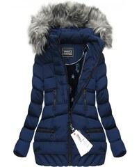 SPEED.A Zimní prošívaná bunda s kapucí modrá (W819)