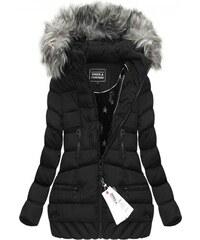 SPEED.A Zimní prošívaná bunda s kapucí černá (W819)