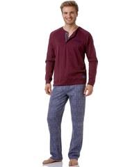 Pánské pyžamo Cotonella DU281 Regatta-červ