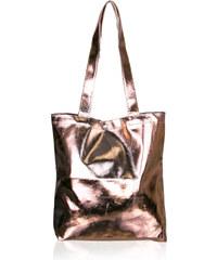 Dámská kabelka shopper metalická