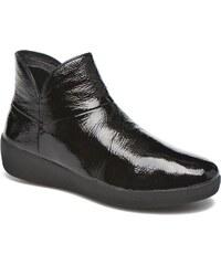 FitFlop - Supermod Leather Ankle Boots - Stiefeletten & Boots für Damen / schwarz