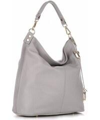 Univerzální kožená kabelka VITTORIA GOTTI Made in Italy XL Světle šedá