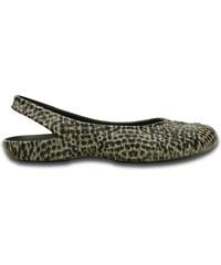 Crocs Olivia II Leopard Print Flat Leopard