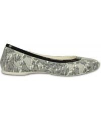 Crocs Lina Shiny Flat Oyster/Black