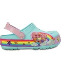 Crocs Lights Rainbow Heart Clog Ice Blue