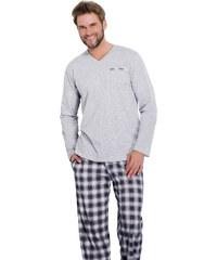 Taro Pánské pyžamo Honza šedé