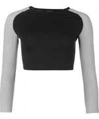 Essentials Raglan Crop Top, black
