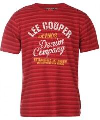Lee Cooper Yarn Dye Crew T Shirt Junior Boys, vintage red