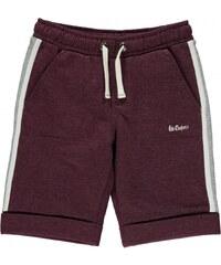 Lee Cooper Trim Fleece Shorts Junior Boys, burgundy marl