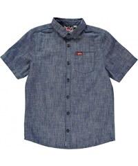 Lee Cooper Short Sleeve Denim Shirt Junior Boys, light denim