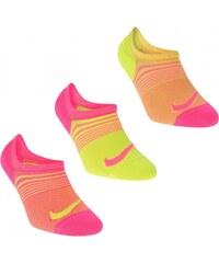 Nike No Show Socks 3 Pack Ladies, orange/yellow