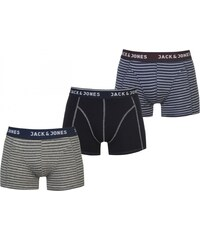 Jack and Jones Bradford 3 Pack Boxers, navy