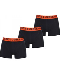 Jack and Jones Leicester 3 Pack Boxers, navy