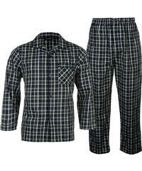 Cargo Quay Woven Pyjama Set Mens, blue/green