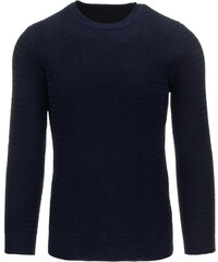 Pánský tmavě modrý svetr (wx0615) velikost: XXL, odstíny barev: modrá