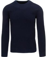 Pánský tmavě modrý svetr (wx0767) velikost: XXL, odstíny barev: modrá
