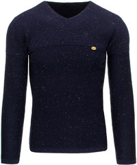 Pánský tmavě modrý svetr (wx0801) velikost: M, odstíny barev: modrá