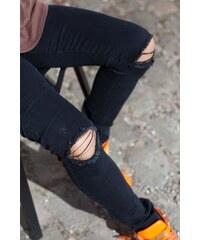 Sixth June Jeans Genoux Destroy Black