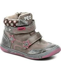 Dětská obuv Peddy PV-636-32-06 šedo růžové dívčí zimní boty