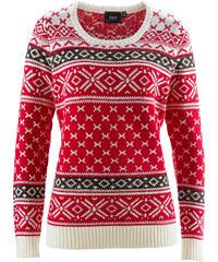 bpc bonprix collection Pullover langarm in rot (Rundhals) für Damen von bonprix