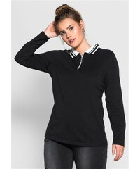SHEEGO TREND Damen Trend Poloshirt schwarz 40/42,44/46,48/50,52/54