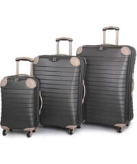 IT Luggage Sada cestovních kufrů 135L/87L/38L TR-1036/3 ABS charcoal
