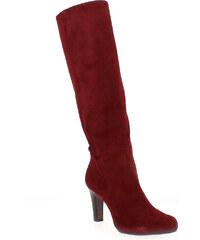 Bottes Femme Rosemetal en Cuir velours Rouge
