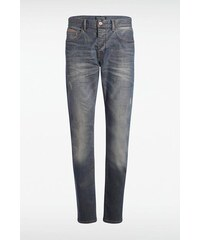 Jeans homme regular SOCHI empiècements Bleu Elasthanne - Homme Taille 34 - Bonobo