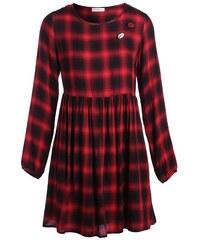 Robe en flanelle motif carreaux Marron Viscose - Femme Taille 36 - Cache Cache