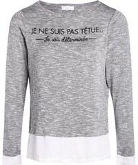 T-shirt 2 en 1 à message Gris Polyester - Femme Taille 0 - Cache Cache
