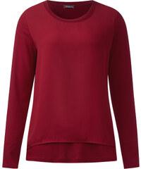 Street One Shirt mit Chiffonlayer Ika - vintage red, Damen