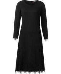 Street One Jerseykleid mit Spitze Ivana - Black, Damen