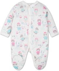C&A Baby-Schlafanzug aus Bio-Baumwolle in Weiss