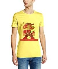 Super Mario Bros. Nintendo T-Shirt -L- Mario Maker, gelb