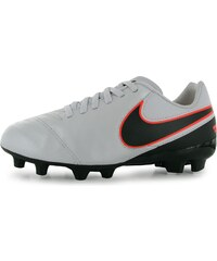 Nike Tiempo Legend VI FG Junior Football Boots, platimun/blk