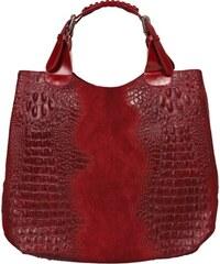 červené kožené kabelky Elizabeth Rossa Cocco
