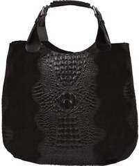 černé kabelky z kůže Elizabeth Nera Cocco