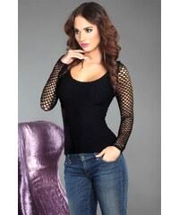 LivCo CORSETTI FASHION Dámské tričko Hortense black černá S/M