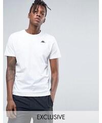Kappa - T-shirt avec petit logo - Blanc