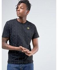 Kappa - T-shirt recouvert d'un imprimé à pois - Noir