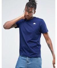 Kappa - T-shirt avec petit logo - Bleu