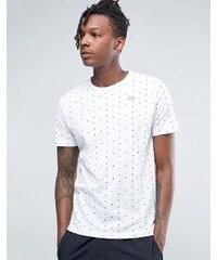 Kappa - T-shirt recouvert d'un imprimé à pois - Blanc