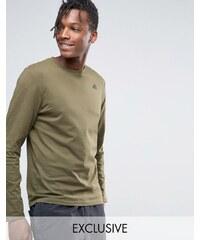 Kappa - T-shirt à manches longues et petit logo - Vert