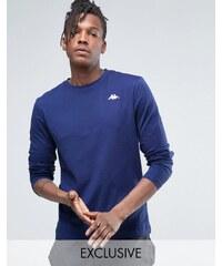 Kappa - T-shirt à manches longues et petit logo - Noir