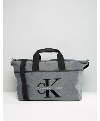 Calvin Klein - Sac de week-end à logo - Gris - Gris